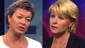 Ylva Johansson (s) och Hillevi Engström (m)